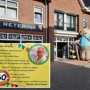 John Reterink is vijftig jaar: Abraham in de Stationsstraat